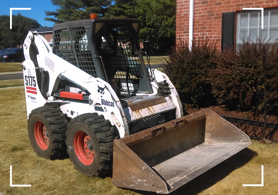 Bobcat S175 Skid Steer in the field